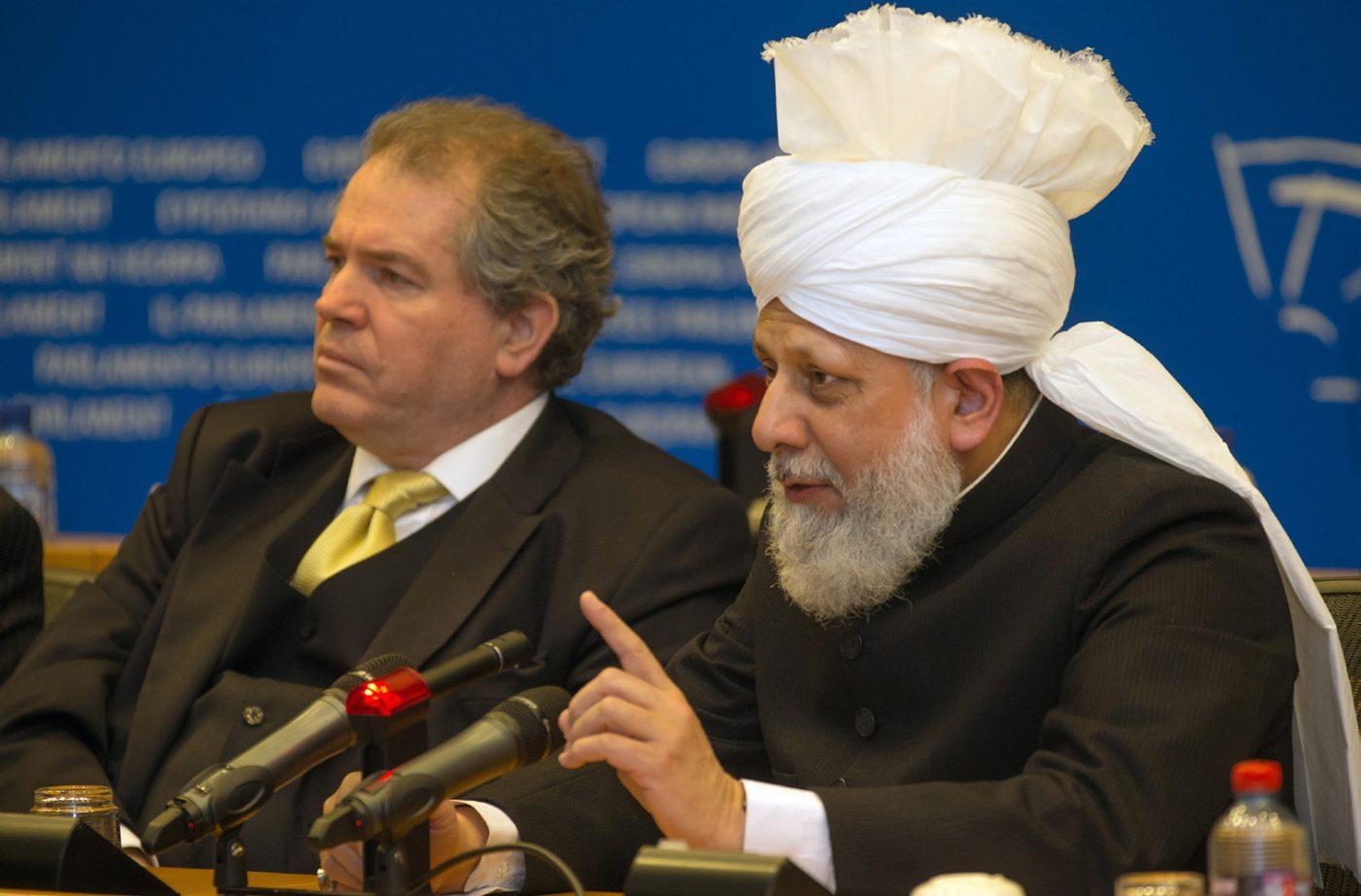04.12.2012, Halifenin Avrupa Parlemantosundaki tarihi konuşması