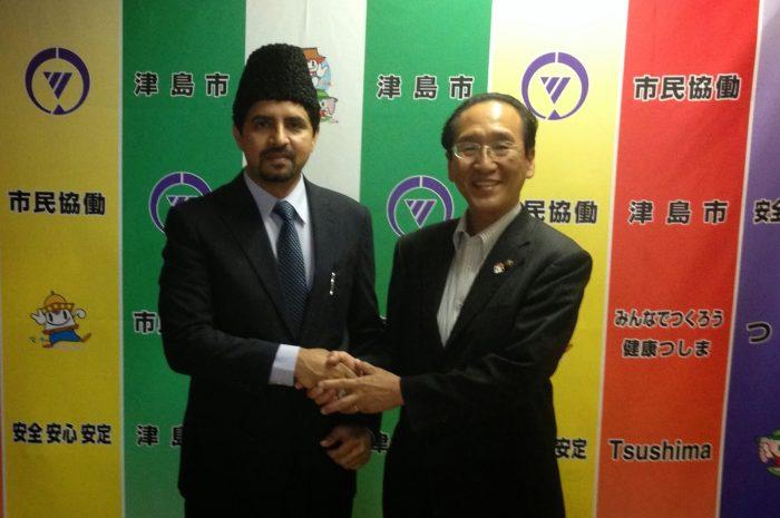 Japonya-Tsushima Belediye Başkanı, Ahmediye Cemaati'nin büyük cami projesini övdü…